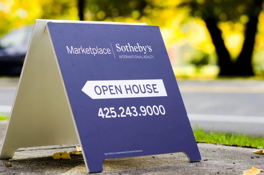 open house, sign, aboard