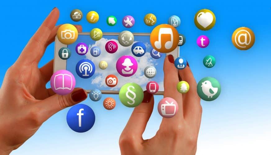 hands, smartphone, social media