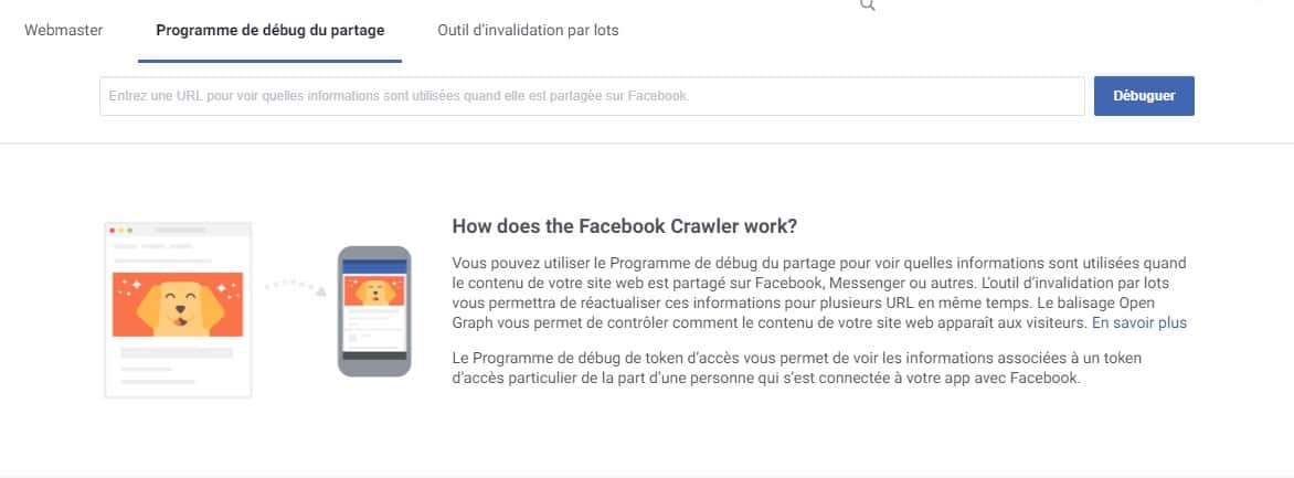 facebook debug debogueur open graph