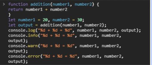 console log method
