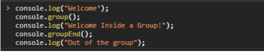 console group function