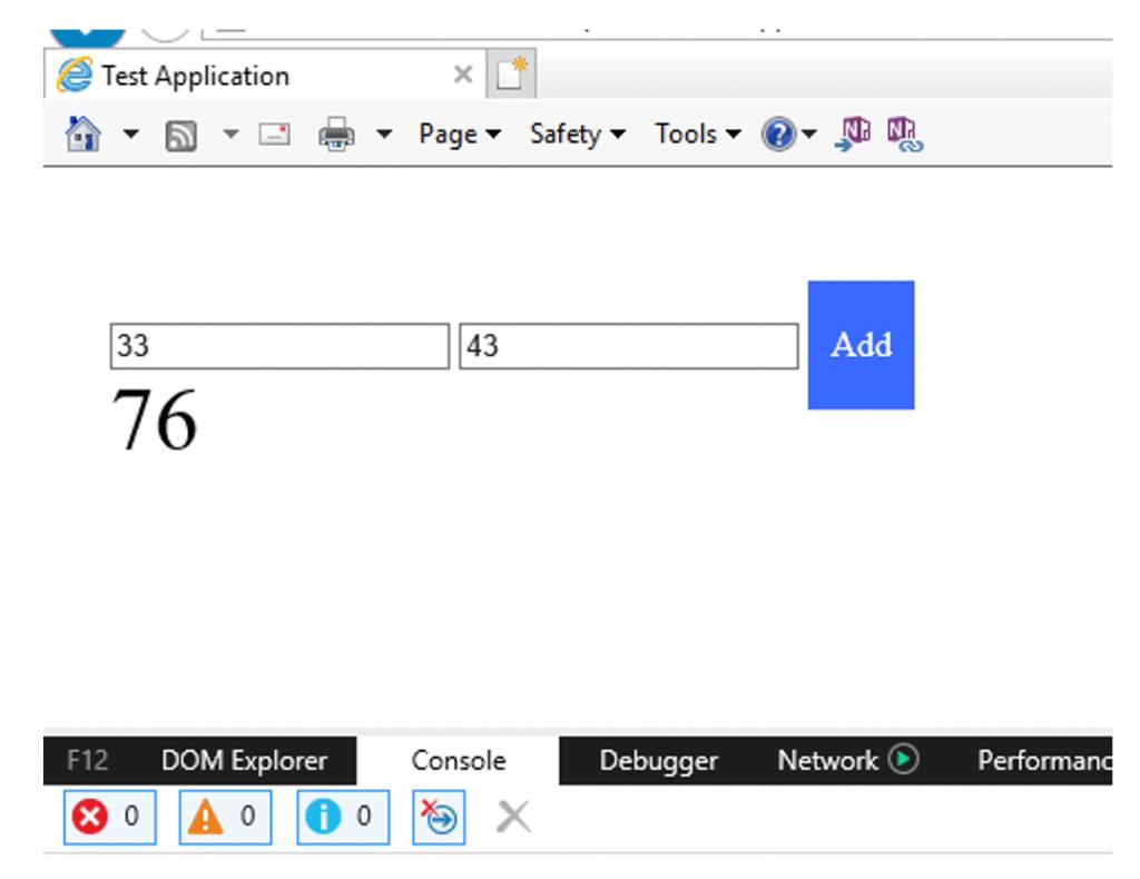 result after code debugging