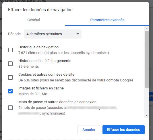 how to delete cache google chrome