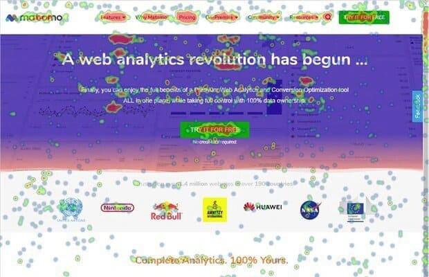 matomo analytics heatmap