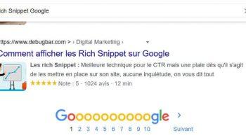 Comment afficher les Rich Snippet sur Google