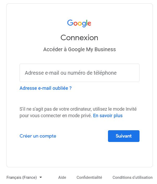 inscription google my business